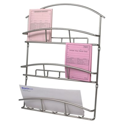 <strong>Spectrum Diversified</strong> Euro Wall Mount Letter Holder in Satin Nickel
