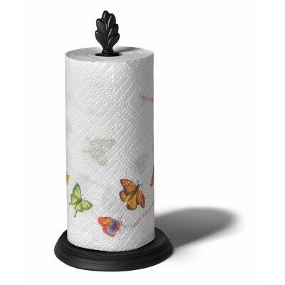 Leaf Paper Towel Holder in Black
