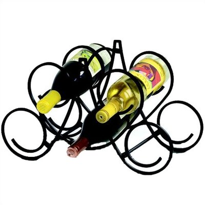 Spectrum Diversified Bordeaux 5 Bottle Tabletop Wine Rack