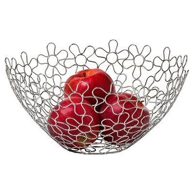 "Spectrum Diversified Flowers 12.75"" Fruit Bowl"