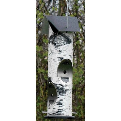 Audubon/Woodlink Woodland Bird Feeder for Thistle Seed in White