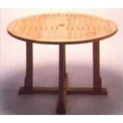 Royal Teak by Lanza Products Teakwood Cambridge Round Dining Table