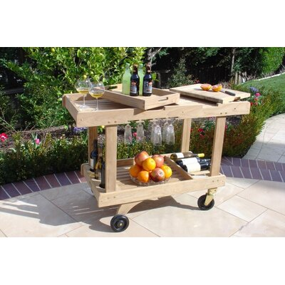 Royal Teak by Lanza Products Teakwood Serving Cart