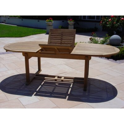 Teakwood Oval Extended Dining Table