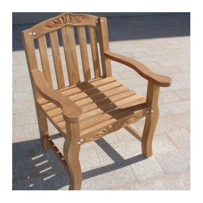 Royal Teak by Lanza Products Teakwood Tulip Dining Arm Chair