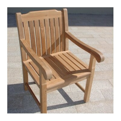 Royal Teak by Lanza Products Teakwood Princeton Dining Arm Chair