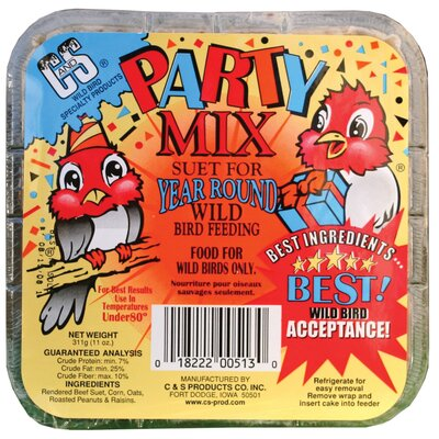 C And S Products Co Inc Party Mix Wild Bird Suet