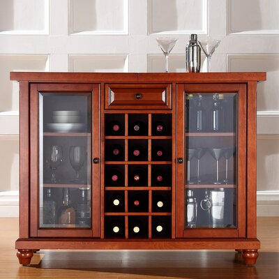 Cambridge Sliding Top Bar Cabinet in Classic Cherry