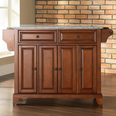Crosley Newport Kitchen Island with Granite Top