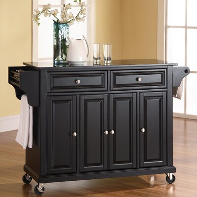 crosley alexandria kitchen island with granite top home styles dolly madison kitchen island cart kitchen
