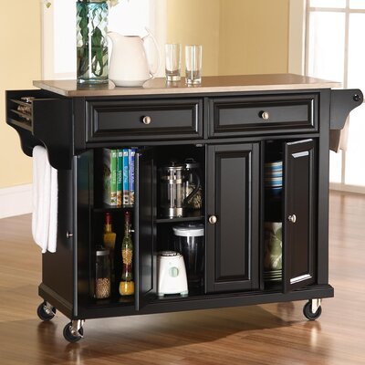 Kitchen Cart with Stainless Steel Top | Wayfair