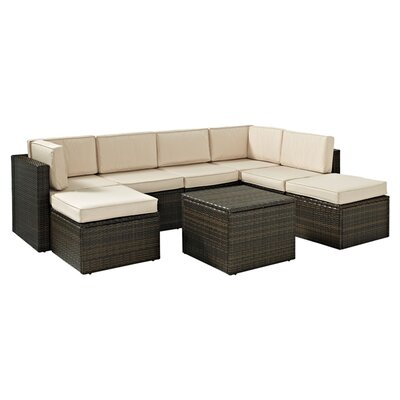Crosley Palm Harbor 8 Piece Seating Group with Cushions