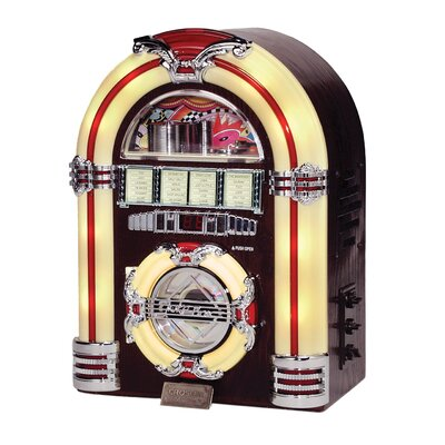 Crosley Jukebox CD Player in  Walnut  Finish