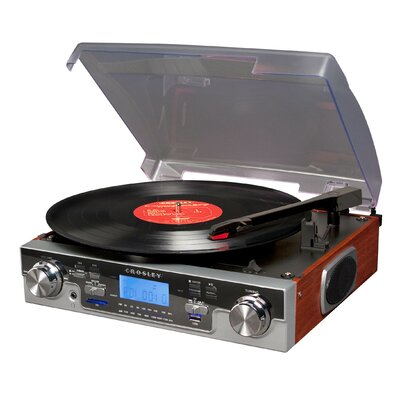 Crosley Tech Turntable with LCD Display in Mahogany