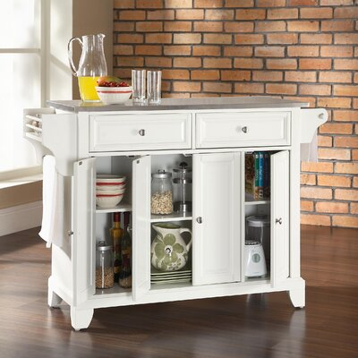 Crosley Newport Kitchen Island With Stainless Steel Top Reviews Wayfair