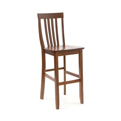 "Crosley School House 30"" Barstool in Classic Cherry"