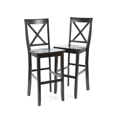 "Crosley X-Back 30"" Barstool in Black"