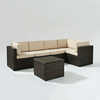 Crosley Palm Harbor 6 Piece Seating Group with Cushions