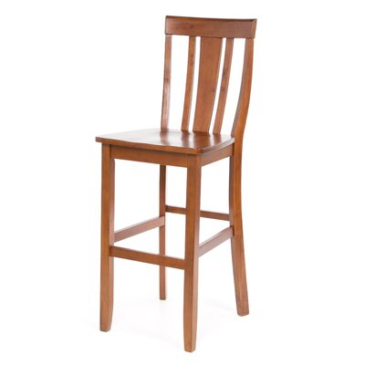 "Crosley Shield Back 30"" Barstool in Classic Cherry"