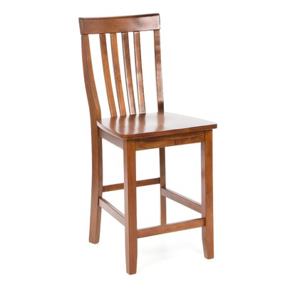 "Crosley School House 24"" Barstool in Classic Cherry"