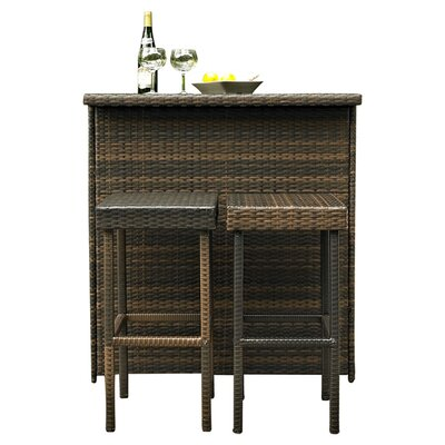 Crosley Palm Harbor 3 Piece Bar Set