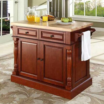 Crosley Kitchen Island with Butcher Block Top