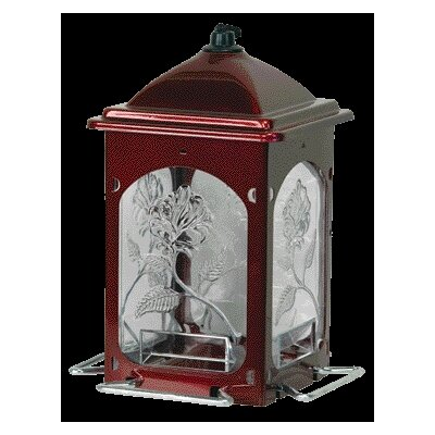 Scarlet Rose Bird Feeder in Red