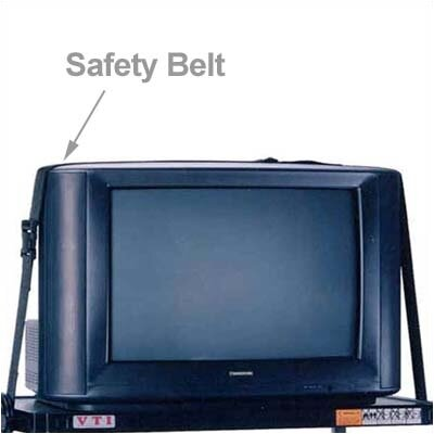 VTI AV Cart Safety Belts - 10'