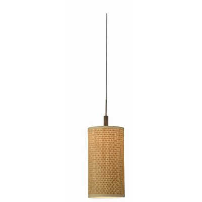 Philips Forecast Lighting Organic Modern Low Voltage Pendant Shade in Natural Grasscloth