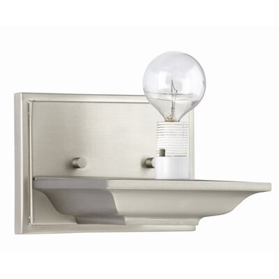 Mason Wall Sconce Holder in Satin Nickel
