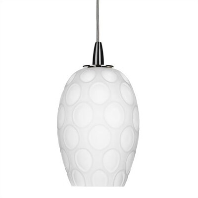 Philips Forecast Lighting Molecule Mini Pendant Bell Shade in White Ceramic Dekor Glass with Holder Options