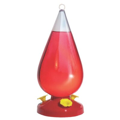 Woodstream Hummingbird Dew Drop Hummingbird Feeder in Red