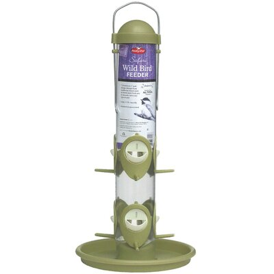 Woodstream Wildbird Safari Tube Feeder in Green