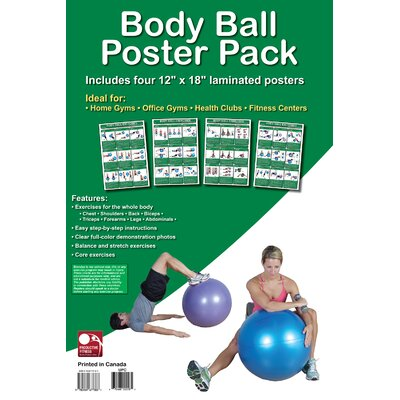 Productive Fitness Publishing Body Ball Training Poster Pack (Set of 4)
