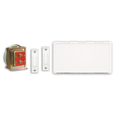 Heath-Zenith Wired Door Chime Contractor Kit with Two Push Buttons