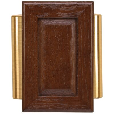 Heath Zenith Wired Raised Panel Door Chime In Brown Cherry