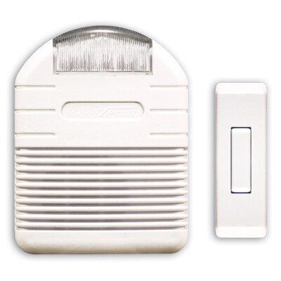 Wireless Plug-In Door Chime Kit with Flashing Light