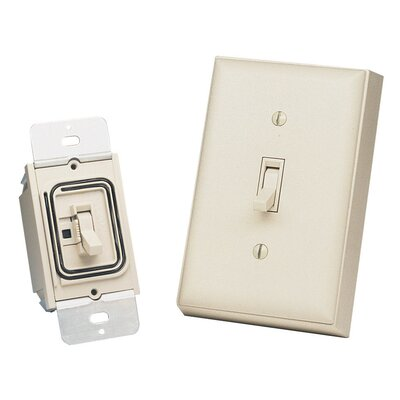 Heath-Zenith Basic Solutions Wireless Switch and Wall Switch in Light Almond