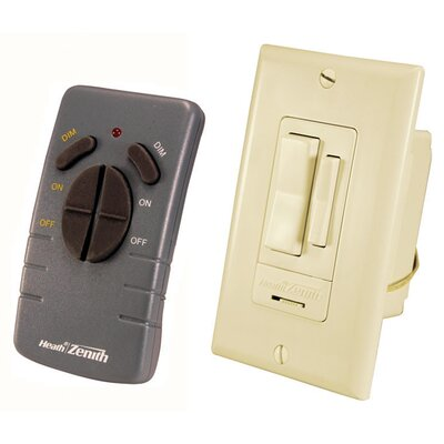 Heath-Zenith Wireless Command Remote Control Switch Set in Ivory
