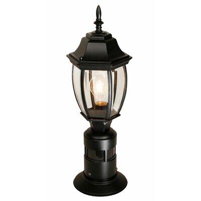 heath zenith 1 light 7 outdoor post lantern with motion sensor. Black Bedroom Furniture Sets. Home Design Ideas