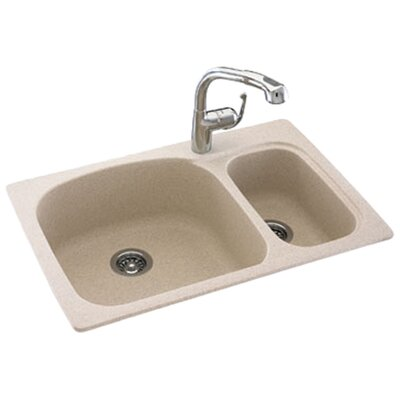 "<strong>Swanstone</strong> Swanstone Classics 33"" x 22"" Large/Small Double Bowl Kitchen Sink"