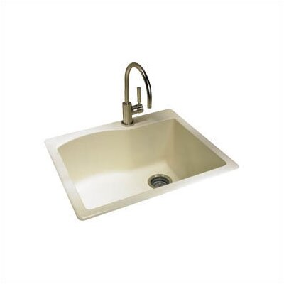 "Swanstone Classics 25"" x 22"" Granite Single Bowl Kitchen Sink"