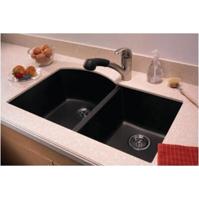 ... Nero Granite Undermount Double Bowl Kitchen Sink Wayfair