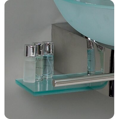 "Fresca Vetro 17.75"" Cristallino Modern Glass Bathroom Vanity Set with Frosted Vessel Sink"