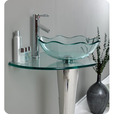 "Fresca Vetro Netto 24"" Modern Bathroom Vanity Set"