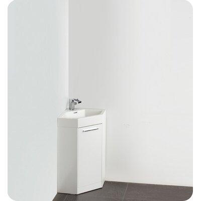 "Fresca Lucida 18"" Coda Modern Corner Bathroom Vanity Set"