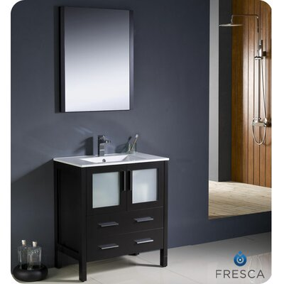"Fresca Torino 29.9"" Modern Bathroom Vanity Set with Undermount Sink"