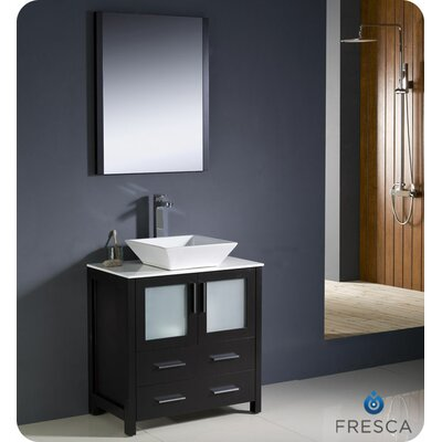 "Fresca Torino 29.9"" Modern Bathroom Vanity Set with Vessel Sink"
