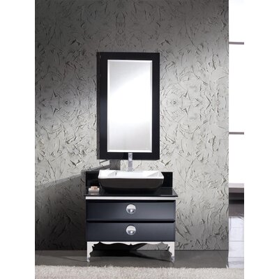 "Fresca Moselle 36"" Modern Glass Bathroom Vanity Set with Mirror"