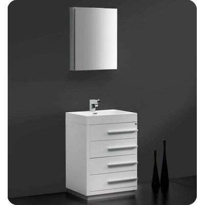 "Fresca Senza 24"" Livello Modern Bathroom Vanity Set with Medicine Cabinet"